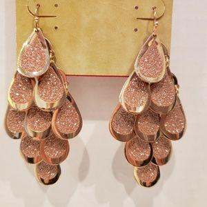 Arizona chandelier pink shiny earrings